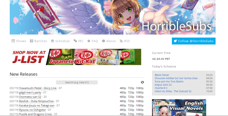 Anime torrenting sites