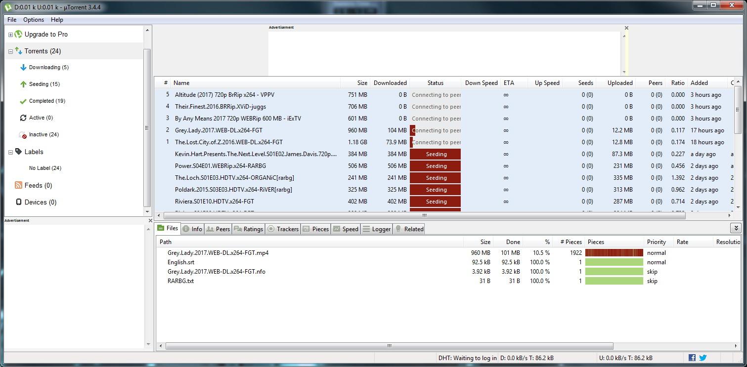 Utorrent-interface